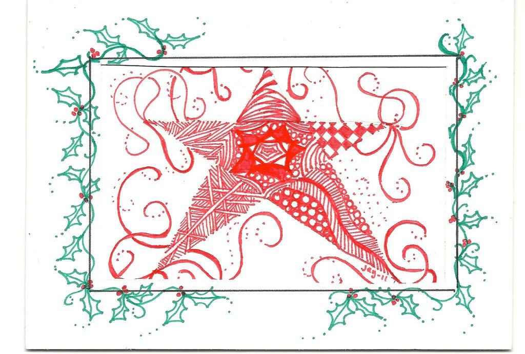 Christmas cards-zentangle 2011 | Christmas card forTVQG Demo… | Flickr