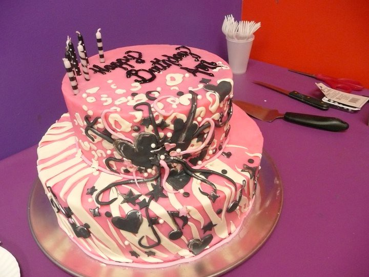 Fine Rockstar Birthday Cake Analia A Rockstar Cake For A Rock Flickr Funny Birthday Cards Online Kookostrdamsfinfo