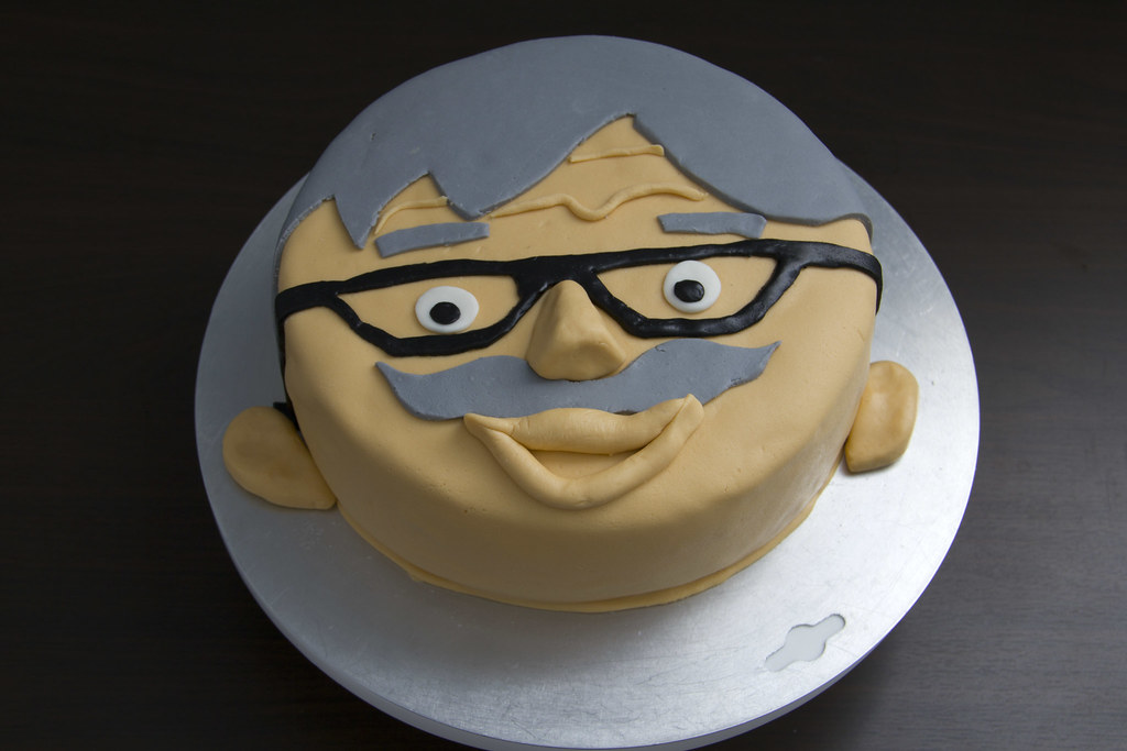 Grandpa cake Smiling grandfather face cake Made with Fond