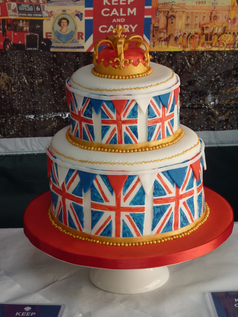 Union Jack Birthday Cake For A British Themed Party Flickr