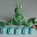 Frog cake topper set christening or 1st birthday
