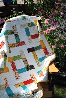 """Tea Party"" quilt patterns by Sweet Jane, Frolic fabric by Sandy Gervais 