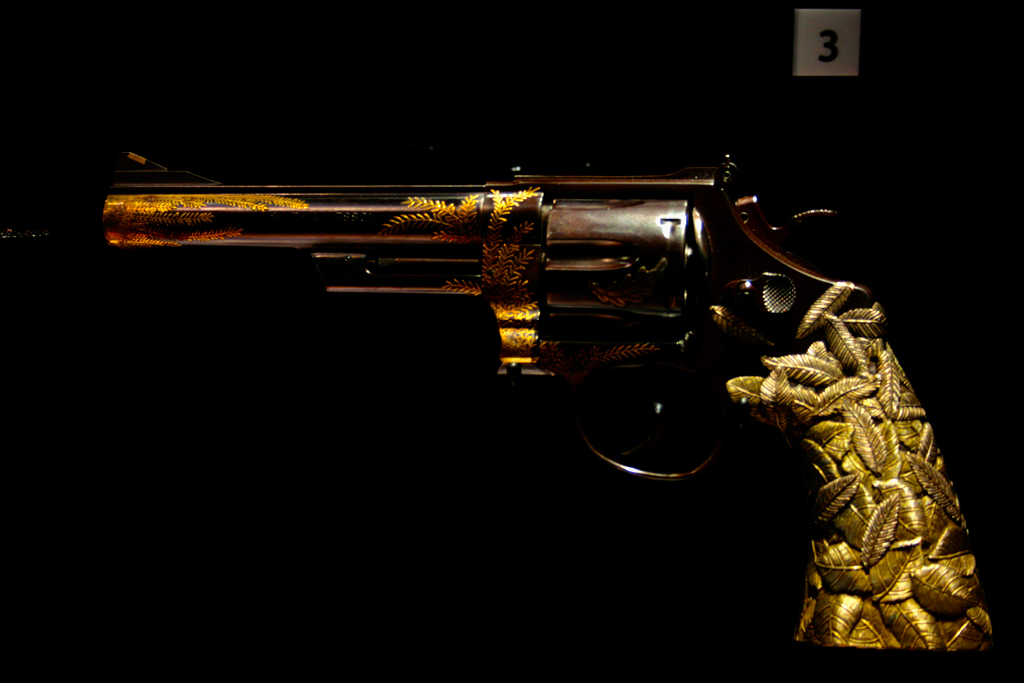 Golden Gun | A gold plated and engraved Magnum Revolver ...