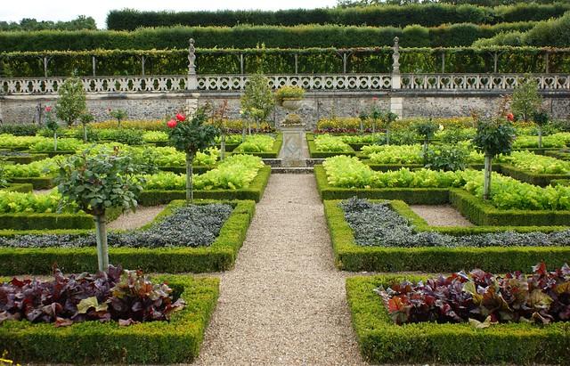 Chateau villandry decorative kitchen garden 3 flickr for Ornamental kitchen garden design