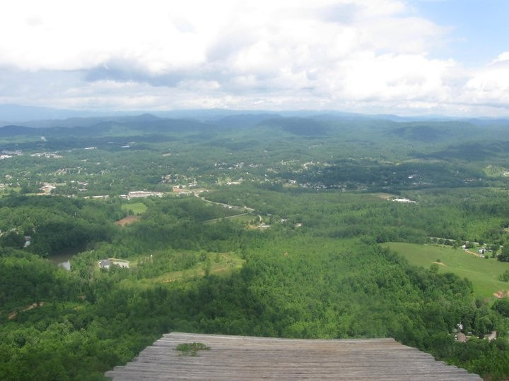 Hibriten Mountain In Lenoir Nc This Is The View From