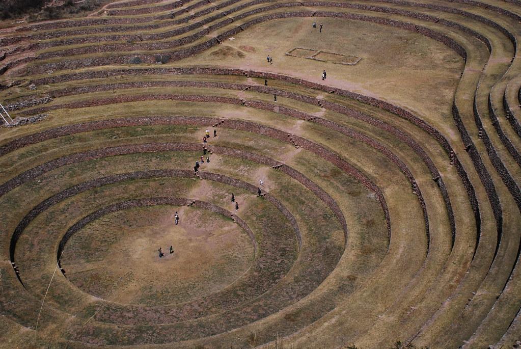Moray Inca Ruins Moray Inca Ruins In Peru Represent The