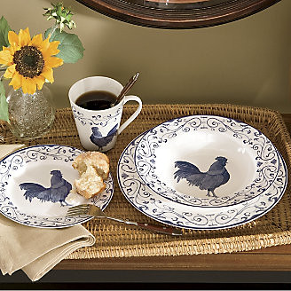 ... Rooster Toile Dinnerware Set | by Country Door & Rooster Toile Dinnerware Set | 16-Piece Rooster Toile Dinneru2026 | Flickr