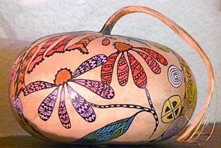 Canteen Gourd Decorated using Sharpie markers | by gingerbread_snowflakes