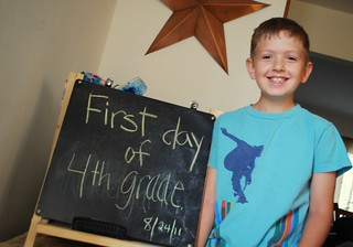 Carter's first day of 4th grade | by Stephanie Precourt