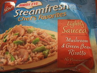 Steamfresh Mushroom & Green Bean Risotto packaging | by swampkitty