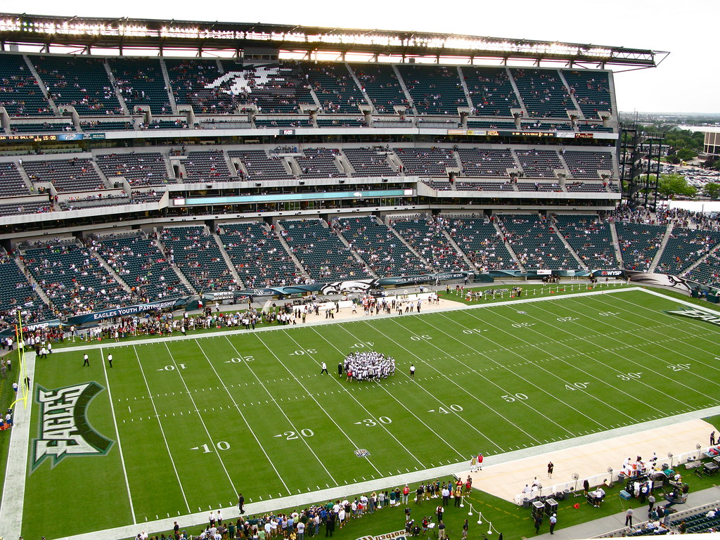 Eagles Vs Jaguars View From Out Seats Inside Lincoln
