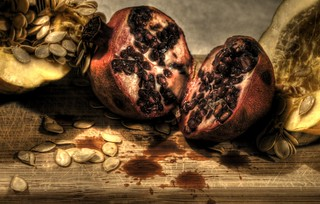 Still Life With Pomegranate and Acorn Squash | by Jonathan Hartzell / the Archangel