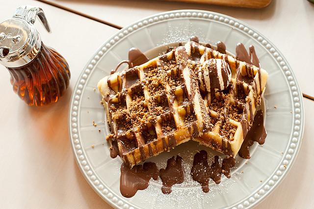 Hazelnut Waffle with Nutella Sauce | Flickr - Photo Sharing!