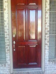 Front Door After Semi Gloss Varnish Applied The Front