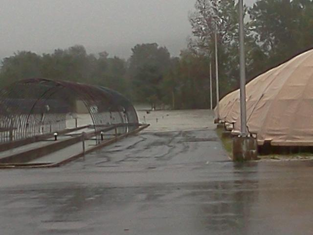 Flooding on white river national fish hatchery during iren for Fish hatchery jobs