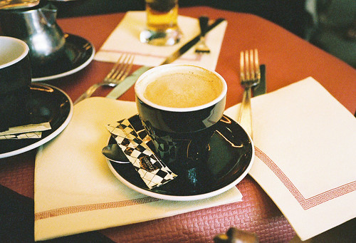 first cafe au lait in paris | by katya mamadjanian