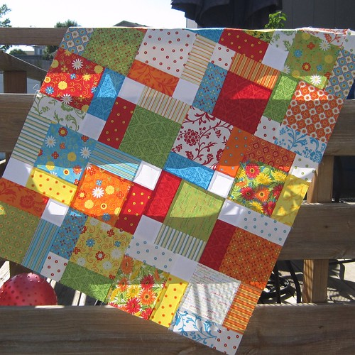 disappearing nine patch quilt top | by stephjacobson
