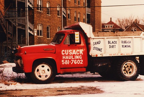 An old 1950's era Chevrolet dump truck.  Chicago Illinois USA. December 1985. | by Eddie from Chicago