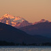Alpenglow on Mt. Baker at Sunset