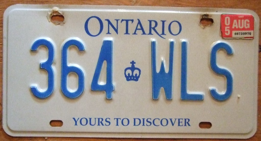 License Plate Camera >> ONTARIO 2005 LICENSE PLATE, OLDER 000-AAA FORMAT | Older 000… | Flickr