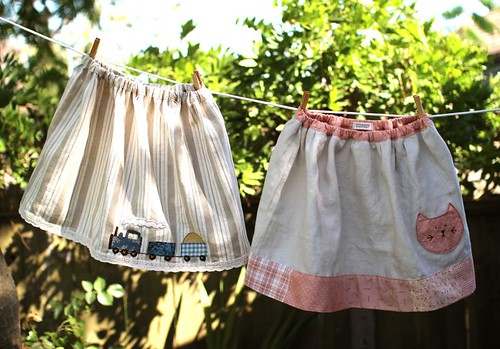 Linen Skirts | by PatchworkPottery