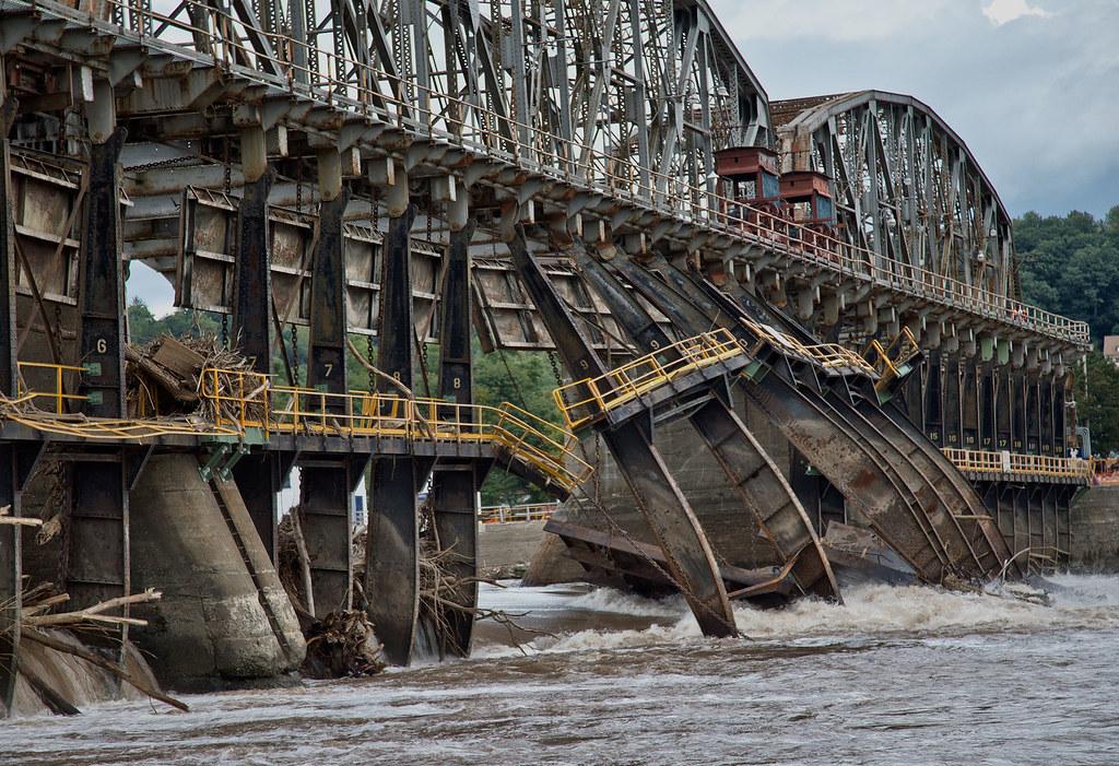 Lock 11 Mohawk River Amsterdam Ny Hurricane Irene Damag