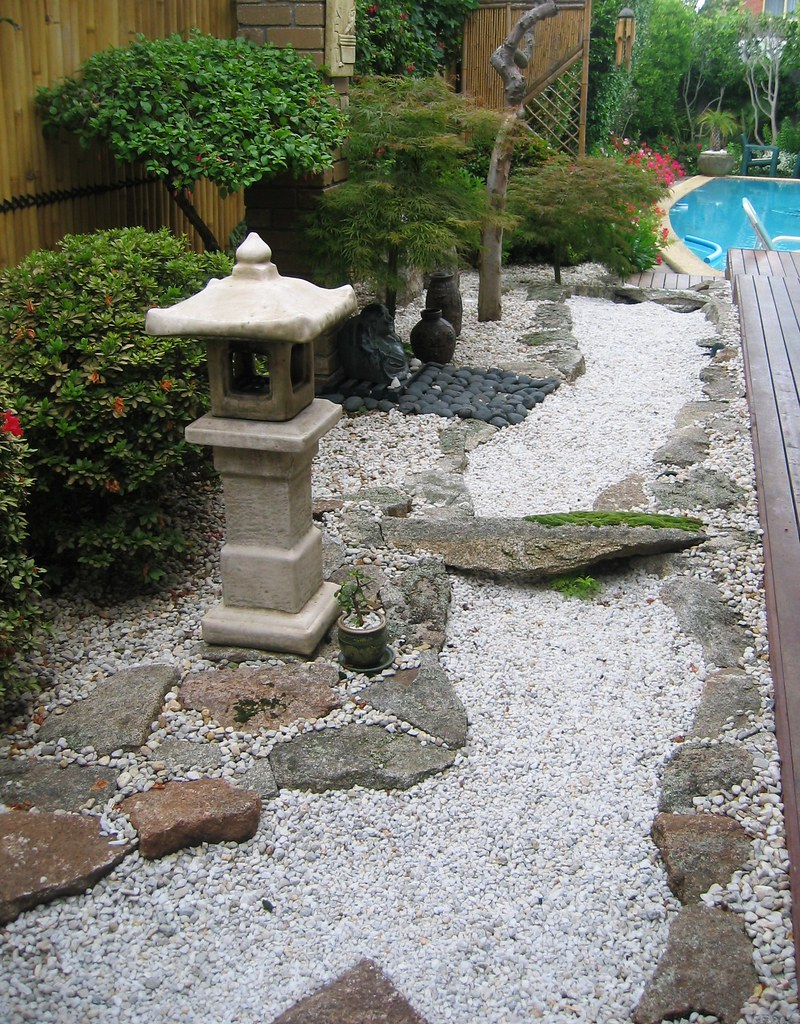 2008 nov rocks down to pool this is my japanese garden How to build a japanese garden