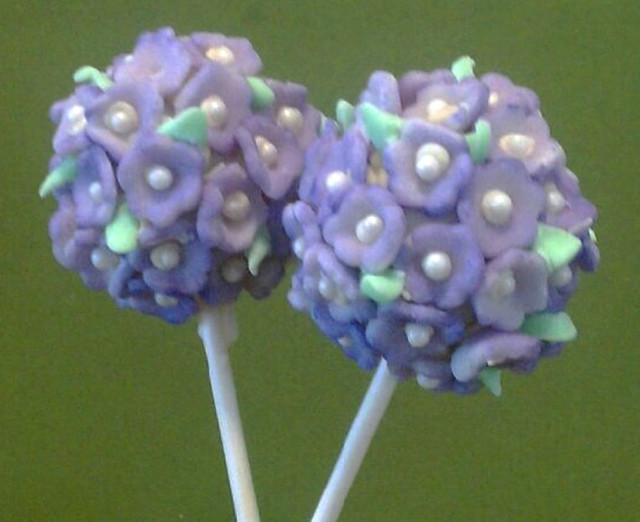 topiary flower cake pops Flickr - Photo Sharing!