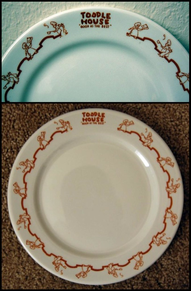 old plate from a Toddle House, Memphis, Tennessee   \