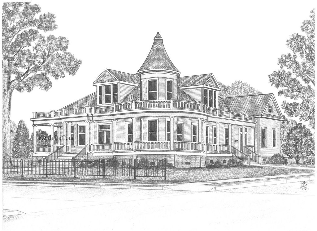 Sally ringgold house alexandria la pencil drawing by for House sketches from photos