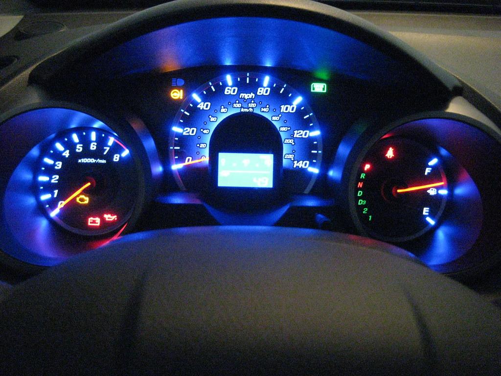 Honda Fit Jazz Driver Dashboard Display At Night Flickr