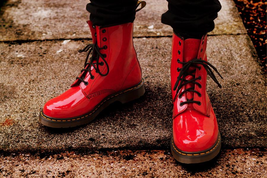 Dr Martens Red Shoe