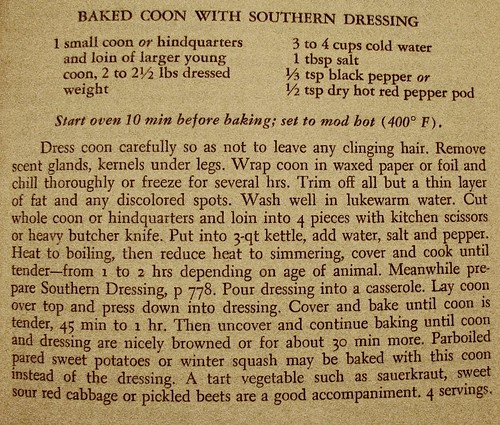 Baked Coon recipe | by msbellee