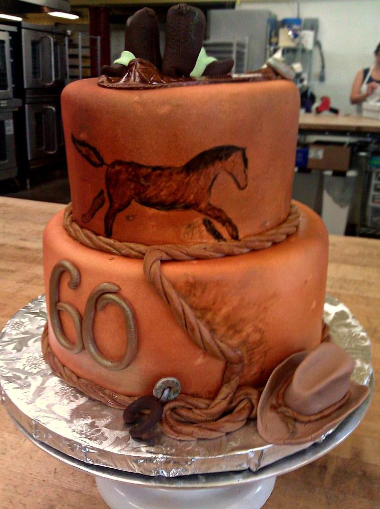 Western 60th Birthday Cake