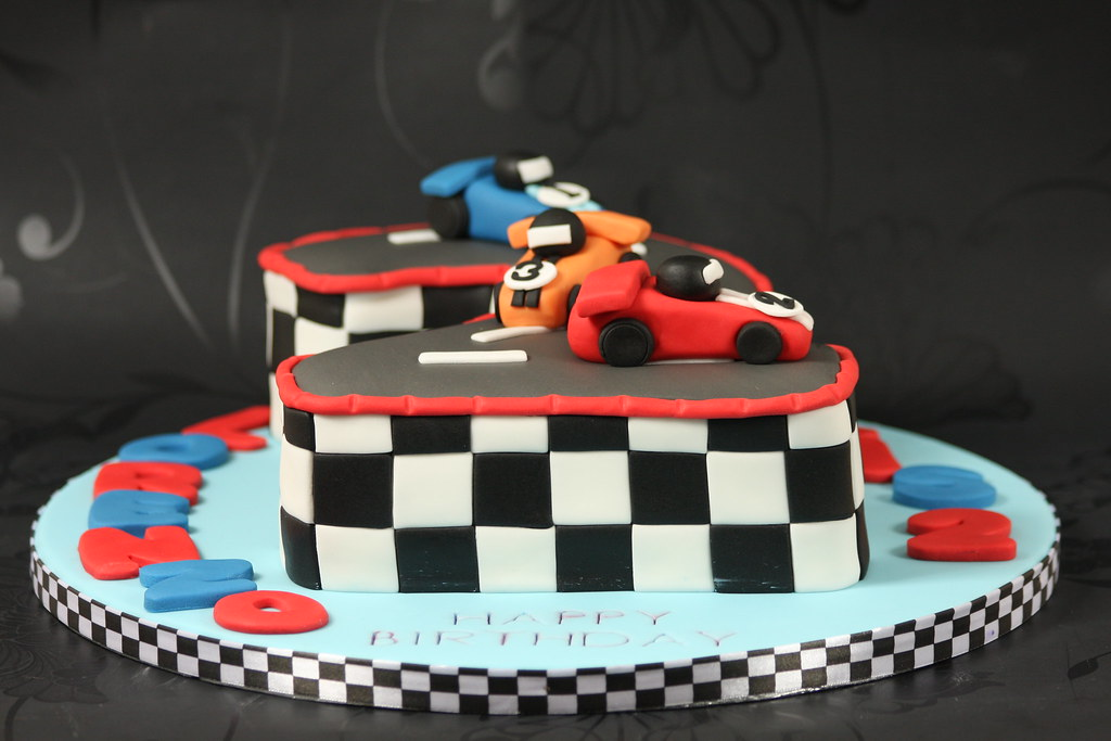 No 2 Racing Car Cake Side View Number Two Shaped Cake De Flickr