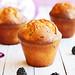 muffins de chocolate blanco y moras
