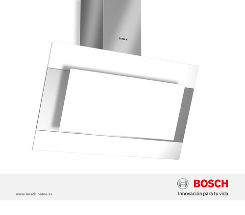 Campana decorativa inclinada de cristal blanco bosch flickr - Campana decorativa cristal ...