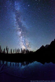 "Stars, Milky Way, String Lake, Grand Teton NP | by IronRodArt - Royce Bair (""Star Shooter"")"