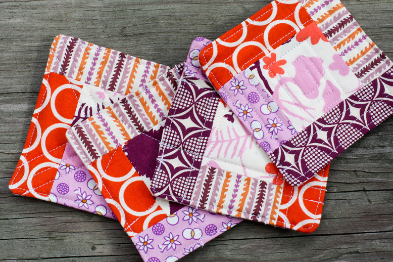 Quilted Coaster Tutorial Blogged Jeni Baker In Color
