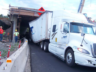 Semi stuck under Interstate 84 on Jordan Road | by OregonDOT
