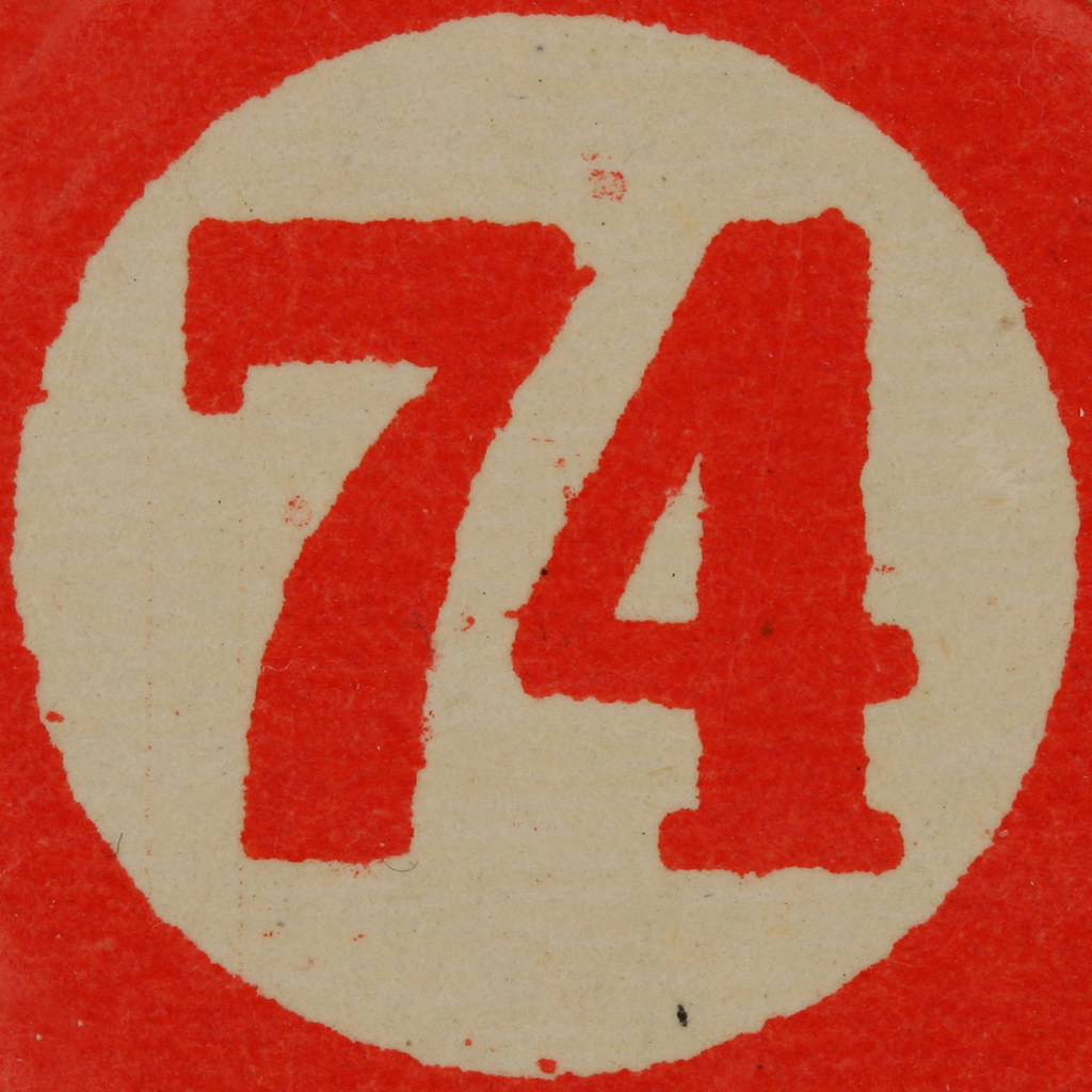 74 >> Cardboard Bingo Number 74 Leo Reynolds Flickr