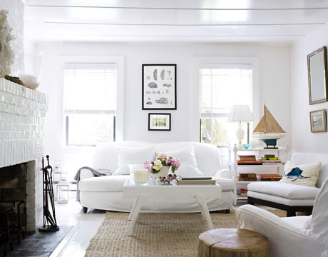 Alex bates of west elm william waldron country living for Modern beach house living room