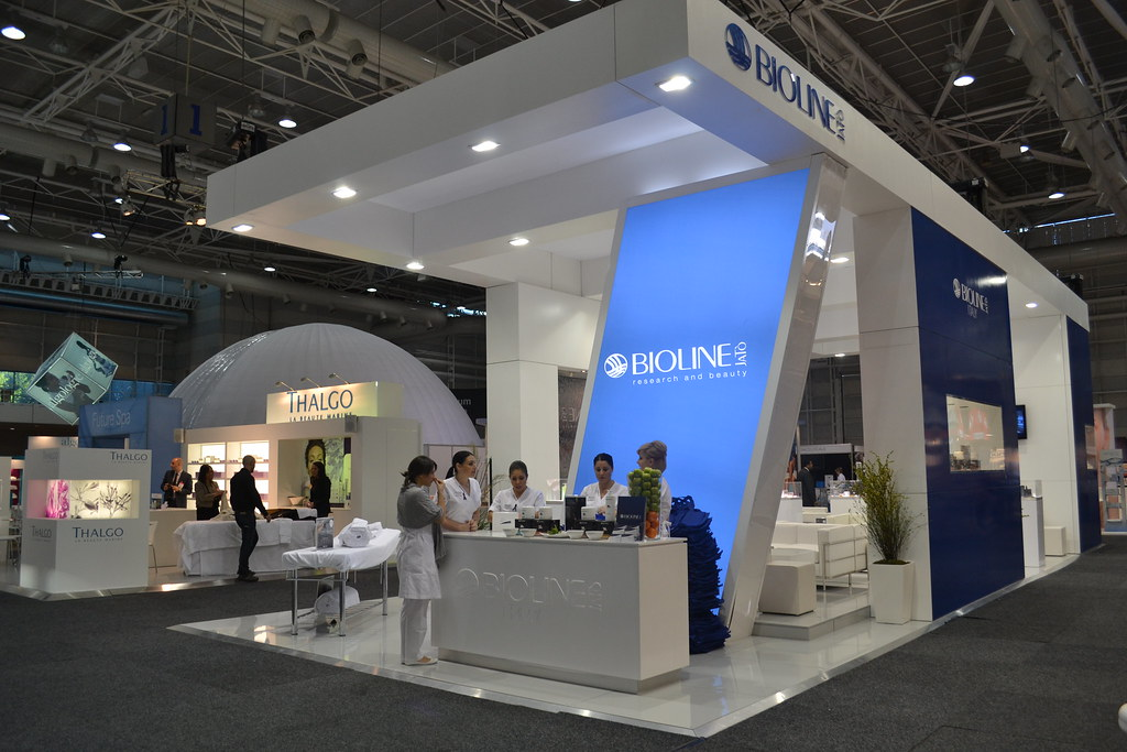 Expo Stands Sydney : Bioline exhibition stand spa beauty expo sydney
