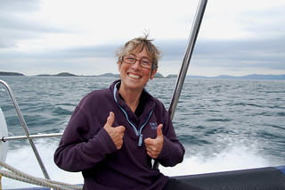 Rohan Beyts after completing her crossing of the Corryvreckan. Rory Syme / John Muir Trust | by rorysyme