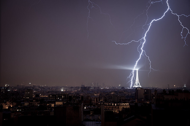 Lightning And The Sparkling Eiffel Tower Flickr Photo