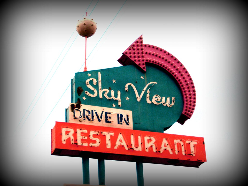 Sky View Drive In Restaurant Florence Sc Old Sign Withou Flickr
