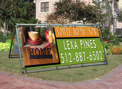 outdoor banner frame by curb appeal signs banners flags