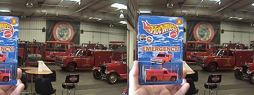 3D, Hot Wheels Tribute and picture car Company 51, Squad and Ward La France at County of Los Angeles Fire Equipment Museum, 2011.08.07 10:15 | by Dr. Disney Wizard