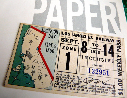 "LA Railway: California State ""Admission Day Sept. 9, 1850"", 1935 