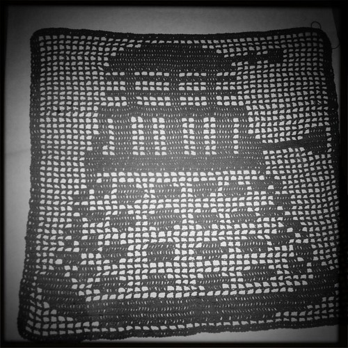 Dalek filet crochet | by Jellibat